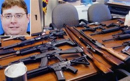 The threats were bad enough and cache of weapons seriously concerned police.