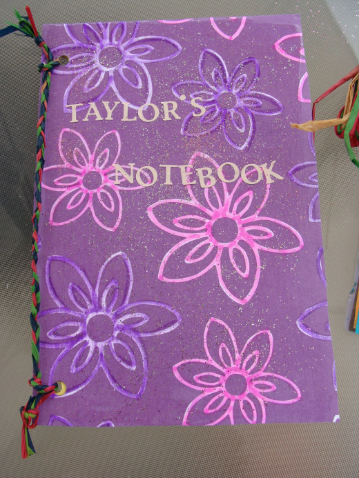 Finished notebook!  These can be used to hold pictures, create mini scrapbooks or writing.