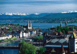 Zurich is the biggest city in Switzerland. It's situated in the northern part of the country. On a beautiful day you can see the Alps in southern Switzerland. I've been in this beautiful city many times.