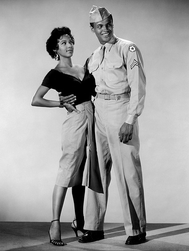 Harry Belafonte and Dorothy Dandridge in a Scene from the classic musical 'Carmen Jones.'