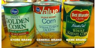 Buy generic brands and save.