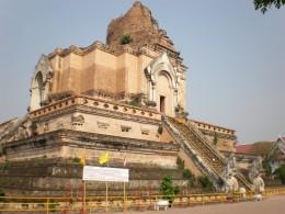 Wat Chedi Luang main temple. Chang Mai old city, Thailand.