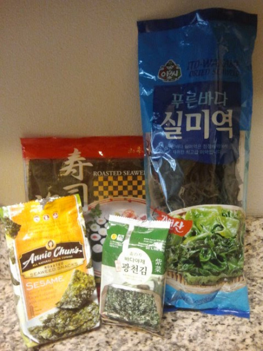 The variety of seaweeds currently in my kitchen. Photo Source: Shanna11
