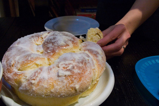 Ensaymada this one is a big one but you can get smaller ones of these :)