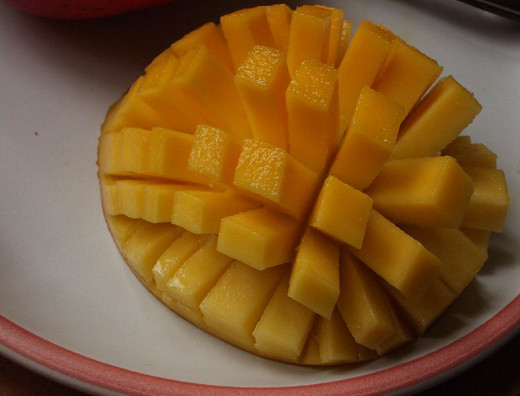 Can you slice your mango like this?