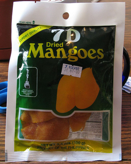 Take a break and treat yourself with dried mangoes they come in all different packs this is made by 7D