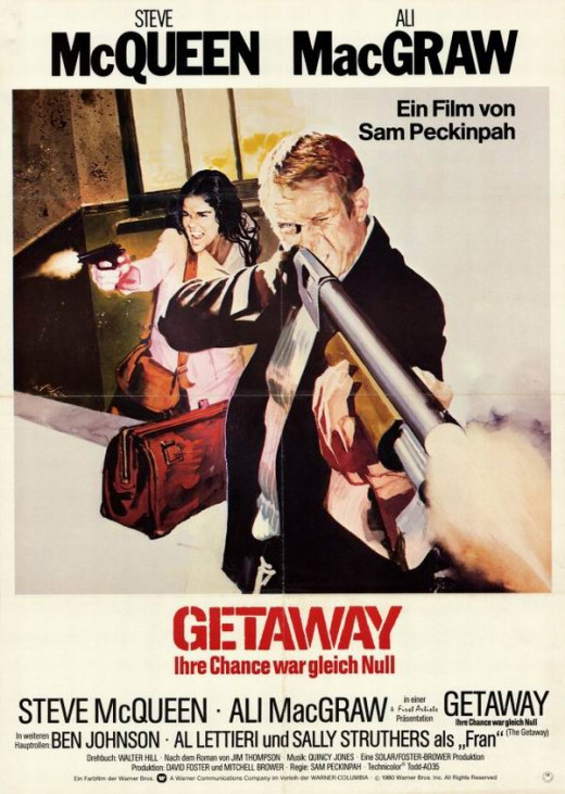 The Getaway 1972 German poster