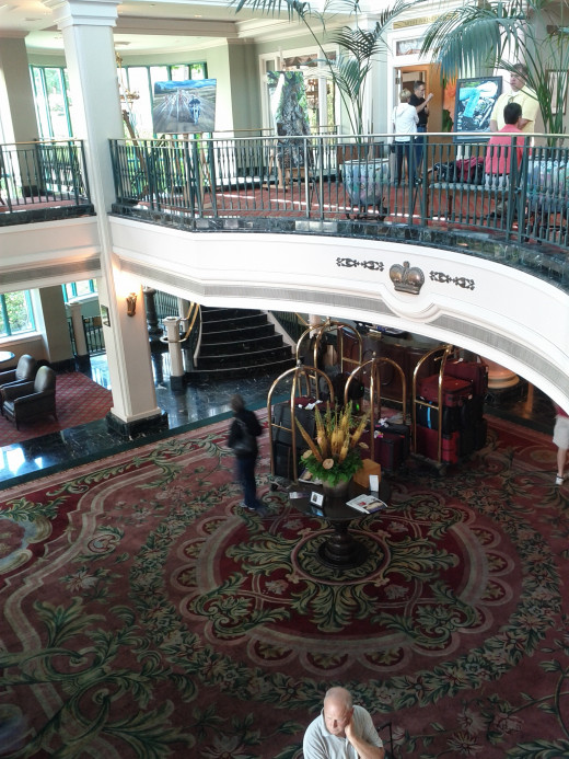 The Guest Entrance and upper/lower lobby
