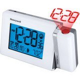 Honeywell PCR426W Dual Projection Weather Forecaster, Weather Station with Atomic Clock, Indoor/Outdoor Temperature, Glowing Soft Touch Keys & Continuous Projection & Backlight