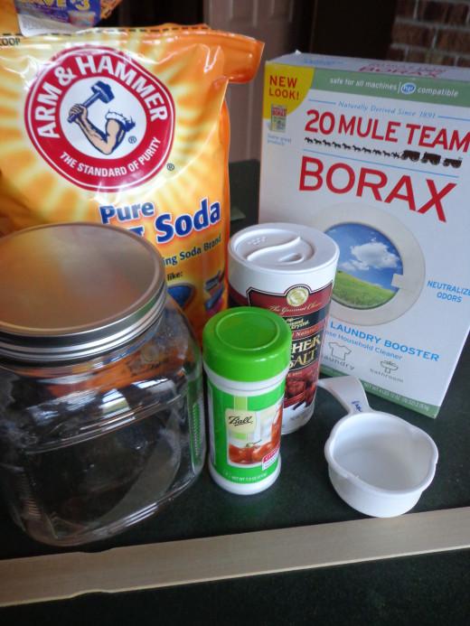 homemade dishwasher powder ingredients