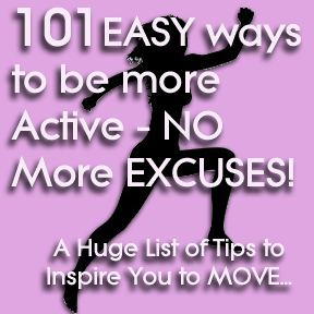 Easy Ways to move from a sedentary to a more active lifestyle.