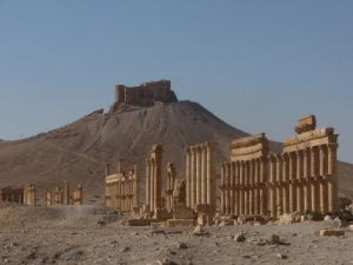 A Citadel at Palmyra, Syria.