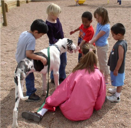 Pets help children with a variety of disabilities