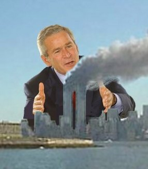 Could George W. Bush have been amongst those behind 9/11? It's a scandalous question, but should it be asked? (See photo credits, below.)