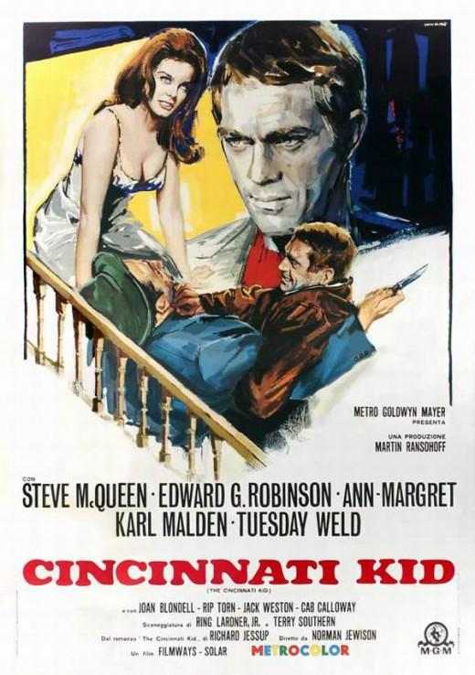 The Cincinnati Kid 1965 Italian poster