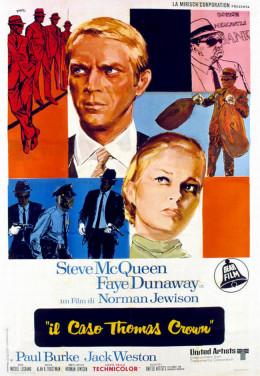 The Thomas Crown Affair 1968 Italian poster