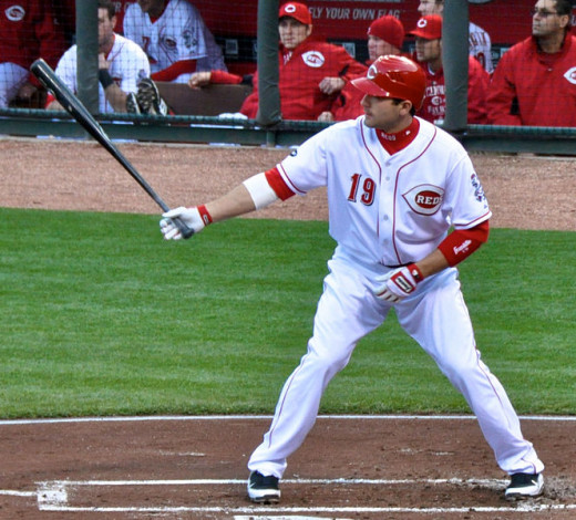 Cincinatti's Joey Votto is off to another hot start in 2015.
