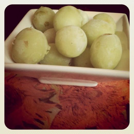 Frozen grapes!