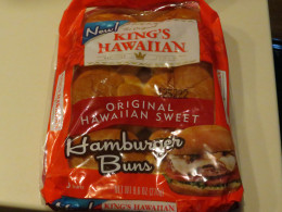 I also used a sweet hawaiian storebought bun, but any bun will work, onion rolls are tasty too.