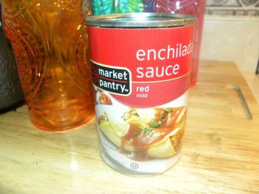 Red (Mild, you can use any spice level you want) Enchilada Sauce. $0.89 a can