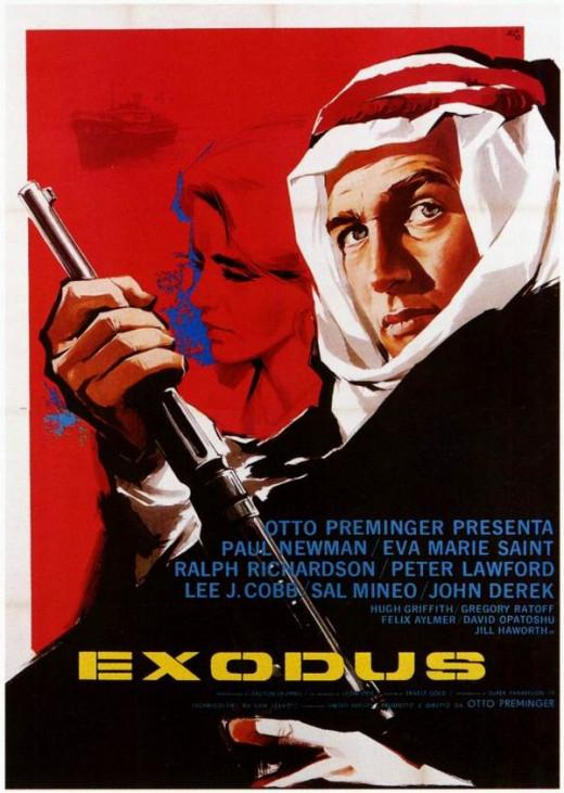 Exodus (1960) Italian poster