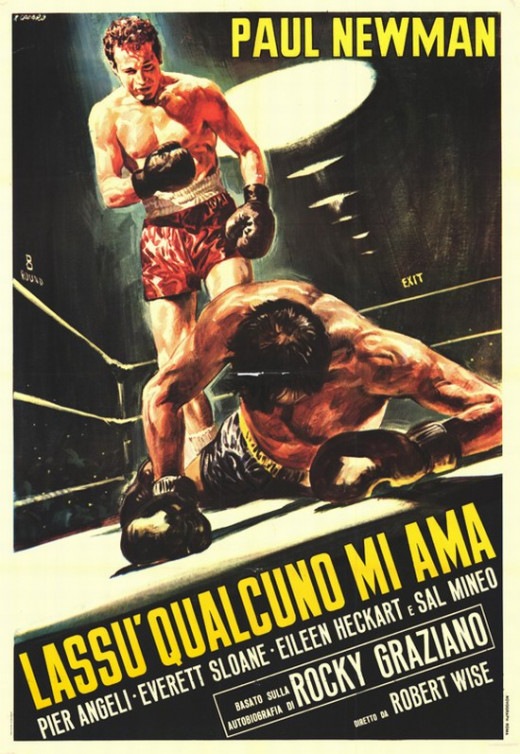 Somebody Up There Likes Me (1956) Italian poster