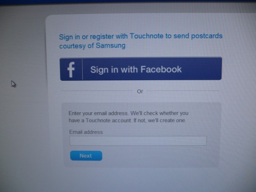 Create the account through Facebook or by email process.