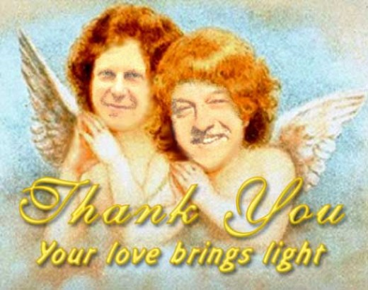 Misha and Mark as the Little Angels in my mind:)