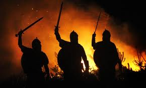 Many men lived for raiding... the source of riches - easy come, easy go.