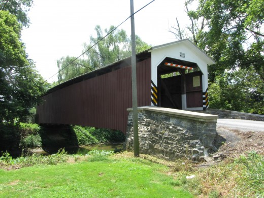 Lime Valley Covered Bridge near the town of Willow Street, PA