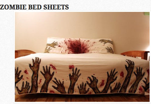 Zombie Bed Sheet designed by Melissa Christie