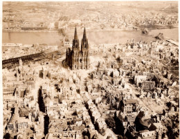 The German city of Cologne after over 250 bombing raids, some consisting of 1,000 RAF bombers.