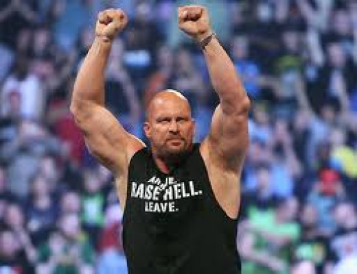 Stone Cold Steve Austin was originally billed as Stunning Steve Austin. He took on all comers during his amazing run at the top.