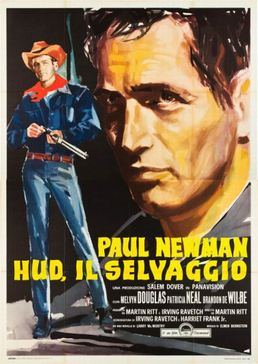 Hud (1963) Italian poster