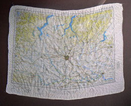 a World War II silk-made map of Milan
