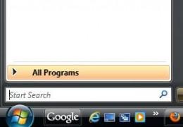 Screenshot: All Programs