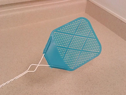 An old-fashioned flyswatter is still a good way to control those indoor pests.