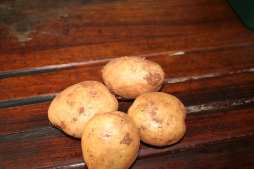 New potatoes freshly bought (or dug from the garden!)