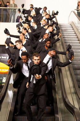 The men in black suit dance number