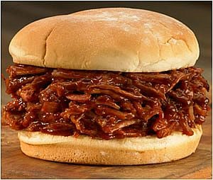 You can make delicious pulled pork sandwiches in a crock pot or slow cooker.