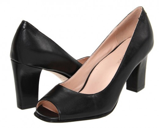 "Taryn Rose ""Fierce"" open-toe high heel pump"