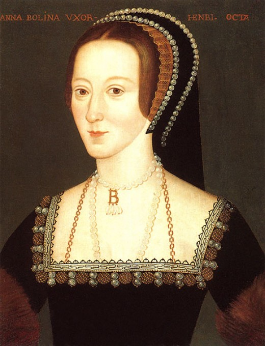 "Whilst this is the most famous portrait of Anne Boleyn and is instantly recognisable, it is not a contemporary. It has been claimed that it is a copy of a lost original. The Latin inscription translates as ""Anne Boleyn Wife of Henry the Eighth""."