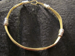 Another view of this wire wrapped bracelet.