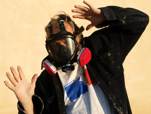 Paint and other fumes are caustic to your lungs.
