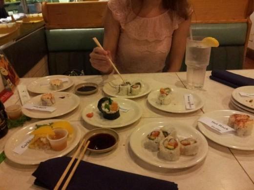 Sushi at Sapporo in Daytona Beach