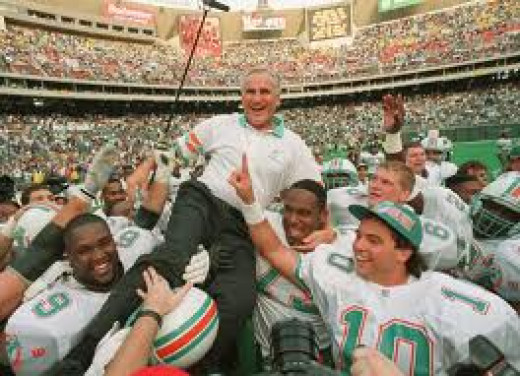 Don Shula coached the 72 Dolphins to an undefeated season and a Super Bowl win. They are the only team to accomplish this feat.