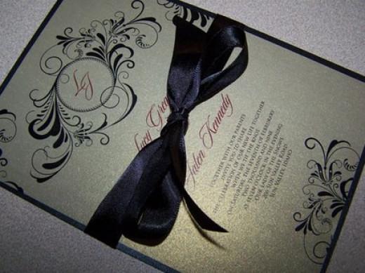 An elegant, formal style of invitation