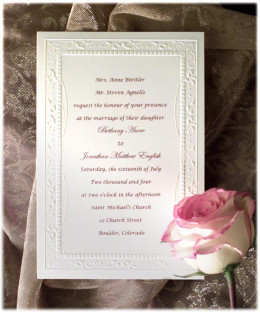 Very traditional and pretty engraved invitation