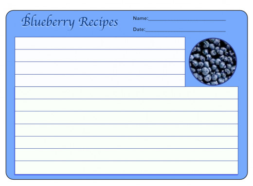 Blueberry recipes never disappoint.