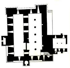 The keep, plan view shows the solid lines inherited from Norman times